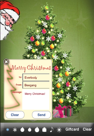 Screenshot Christmas Tree Maker for iPhone – Free